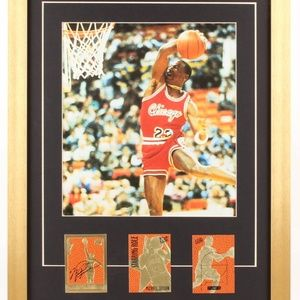 Other - Michael Jordan Photo Display with 23 KT Gold Cards